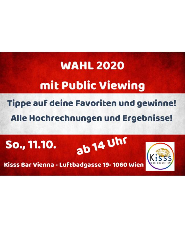 Wahl 2020 mit Public Viewing